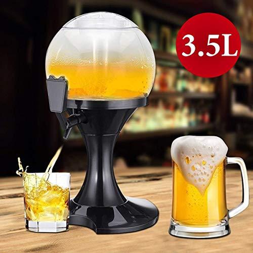 SHIJING Distributore di Birra da 3,5 Litri Macchina per Bere recipienti Design a Strato Trasparente Stazione di Servizio Bar Bar con Ghiaccio Birra Cucina Cucina Bere Vino Festa