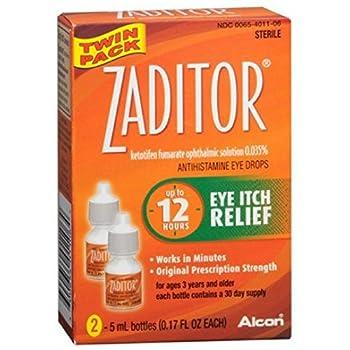 Zaditor Antihistamine Eye Drops Twin Pack 0.34 oz  Pack of 2