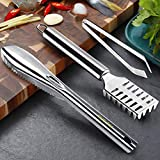 Blasoul Fish Descaler Tool and Fish Tweezers - 3 PCS Stainless Steel Fish Scaler Brush Set Include 2 Tweezers Pliers Remover Tool and 1 Fish Bone Tweezers for Kitchen Tool Fish Scales Skin Removing