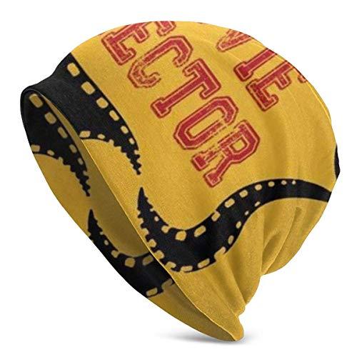 rouxf Director de Cine Strip Interest Beanie Hombres Mujeres Unisex Soft Cuffed Llanura Skull Knit Hat Cap Gorro de Punto Diario