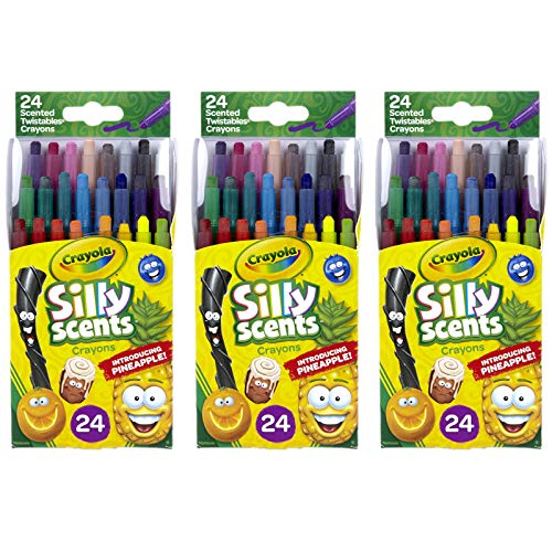 Crayola Silly Scents Mini Twistables Scented Crayons, 24 Per Pack, 3 Packs