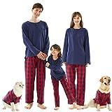 Cat Dog and Owner Matching Pajamas, Buffalo Plaid Holiday Xmas Pajamas Shirts