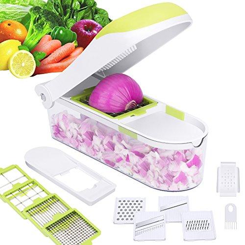 E-Gtong Vegetable Chopper and Food Slicer, Vegetable Slicer with 9...