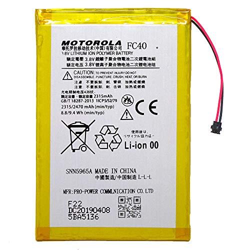 Batería de repuesto Motorola FC40 para Moto G3 3ª Gen XT1540 XT1541 2470 mAh