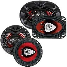 "New BOSS CH6530 6.5"" 300 Watt + Boss CH4630 4x6"" 250 Watt Car Audio Speakers photo"