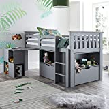 Happy Beds Milo Wooden Mid Sleeper Kids Bunk Bed Bedroom Furniture