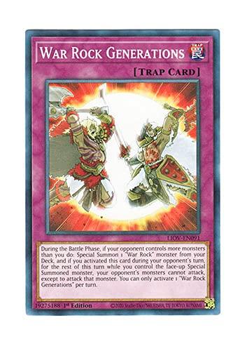 遊戯王 英語版 LIOV-EN091 War Rock Generations (ノーマル) 1st Edition
