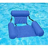Water Chair Inflatable Swimming Pool Float Lounge, Comfortable Inflatable Swimming Pools Lounger Bed for Summer (1 Pack)