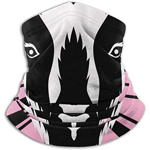 Cabeza de Cabra Líneas de radiación Rosadas Starburst Headwear Calentador de Cuello Polaina de Cuello Calentador Mascarilla Bufanda de Invierno