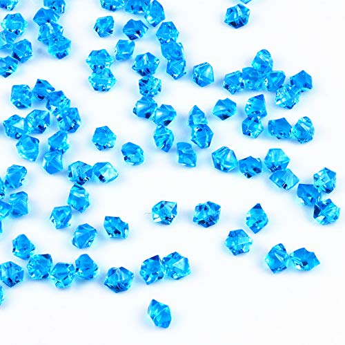 ARZASGO Acrylic Crystals Clear Gems Ice Rocks Colored Stones for Vase Fillers, Table Scatter, Party Favor, Wedding Decoration, Arts Crafts (Approx 250 Pieces, 2/4 inch)