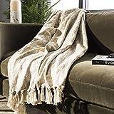 Safavieh Peppin Metallic Throw Blanket, Natural/Gold