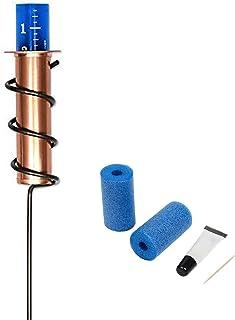 UYUH - Misuratore di pioggia in rame per il giardino, con kit di riparazione in schiuma, manometro per pioggia con palett...