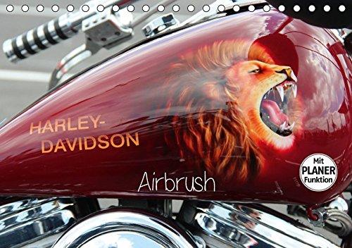 Harley Davidson - Airbrush (Tischkalender 2019 DIN A5 quer): Amerikas Motorradlegende Nr.1 (Geburtstagskalender, 14 Seiten ) (CALVENDO Kunst)