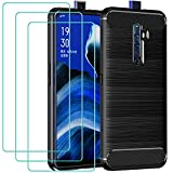 ivoler Case for Oppo Reno 2Z / Reno 2F + 3 Pack Tempered