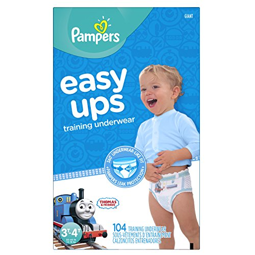 Price comparison product image Pampers Easy Ups Training Pants Pull On Disposable Diapers for Boys Size 5 (3T-4T),  104 Count,  Giant