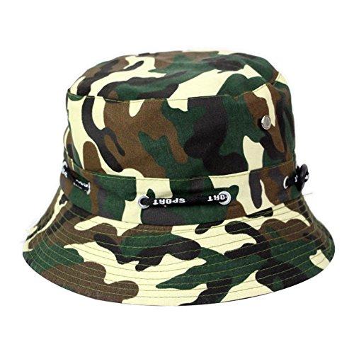 XQxiqi689sy Modische Camouflage-Sonnenschutzkappe, Outdoor, atmungsaktiv, zum Wandern, Angeln