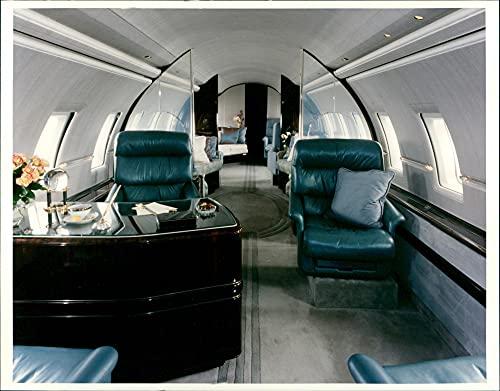 Ein Büro im Bombardier Global Express - Vintage Press Photo