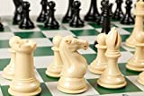 Best Chess Set Ever XL - Superior Weighted Chess Pieces, Travel Chess Game Board, Strategy Book