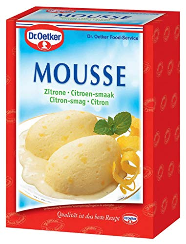 Dr. Oetker Professional Mousse mit Zitronen-Geschmack, Dessertpulver in 1 kg Packung