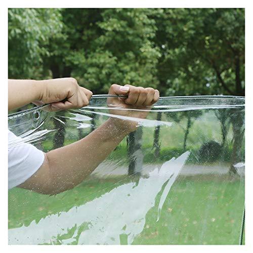 Lona Resistente, Cortina De Lluvia Para Balcón, Transparente Parabrisas De PVC, Impermeable Impermeable Con Ojales Para Invernadero, Techo, Mueble De Jardín ( Color : Claro , Size : 4x2x2.5m )