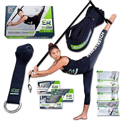 EverStretch Bein Keilrahmen: Mehr flexibel mit der Tür Flexibilität Trainer Lite Premium Dehnung Equipment für Ballett, Tanz, MMA, Taekwondo & Gymnastik. Ihre eigenen Tragbare Stretch Maschine.