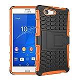 JiuRui-504 kuaijiexiaopu Étuis pour Sony Xperia Z3 Z5 Compact, Armure antichocs Smart Cover Phone...