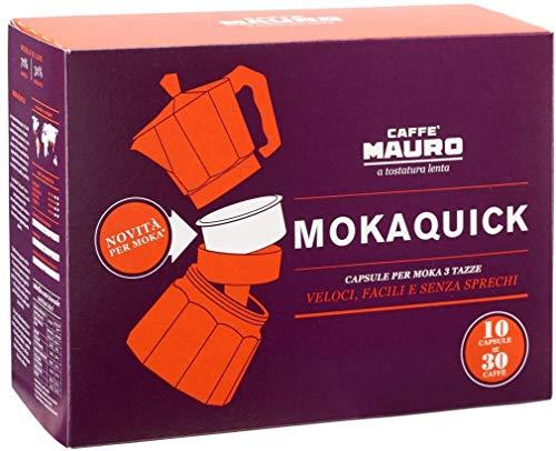 Caffè Mauro | Mokaquick De Luxe | 5 confezioni da 10 capsule | 50 capsule per Moka da 3 dosi