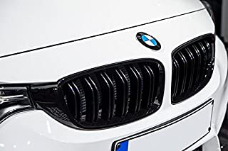 KKmoon Auto Front Nieren Doppelsteg K/ühlergrill Gitter New Meteor f/ür BMW F30 328i 335i 2012-2016 Schwarz OE