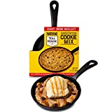 Thoughtfully Gifts, Nestle Toll House Individual-Size Chocolate Chip Pizza Cookie Kit, Includes Cookie Mix and Mini Cast Iron Skillet