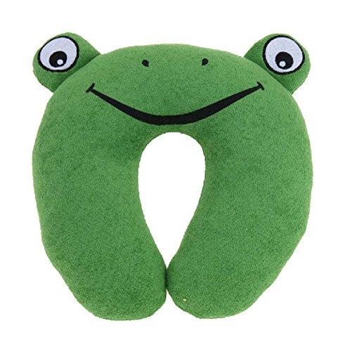 Cuscino cervicale per bambini, adatto per viaggi in auto, con vari stili in tema animale, Frog (verde) - CP8200301