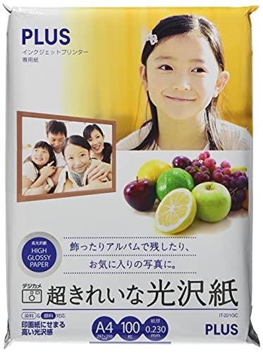 プラス 写真用紙 超きれいな光沢紙 A4判 100枚入 IT-221GC 46064