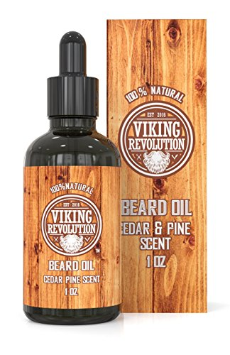 Beard Oil Conditioner - All Natural Cedarwood & Pine Scent with Organic Argan & Jojoba Oils - Softens & Strengthens Beards and Mustaches for Men (1 Pack)