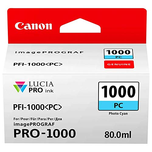 Canon Tintenpatrone PFI-1000 PC Fotocyan 80 ml ORIGINAL für imagePROGRAF PRO-1000