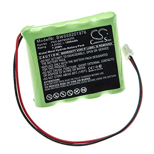 vhbw batería Compatible con Paradox Magellan MG6250 Control Panel Control de Alarma Seguridad (1500mAh, 4,8V, NiMH)