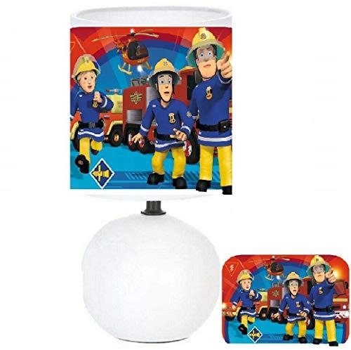 Lampe de chevet SAM LE POMPIER - création artisanale N°3. (produit Français)