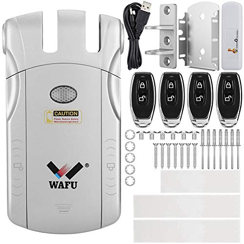 Cerradura electrónica invisible, cerradura de puerta de control remoto estable, aleación de zinc invisible inalámbrica para(Silver+USB Bluetooth adapter)
