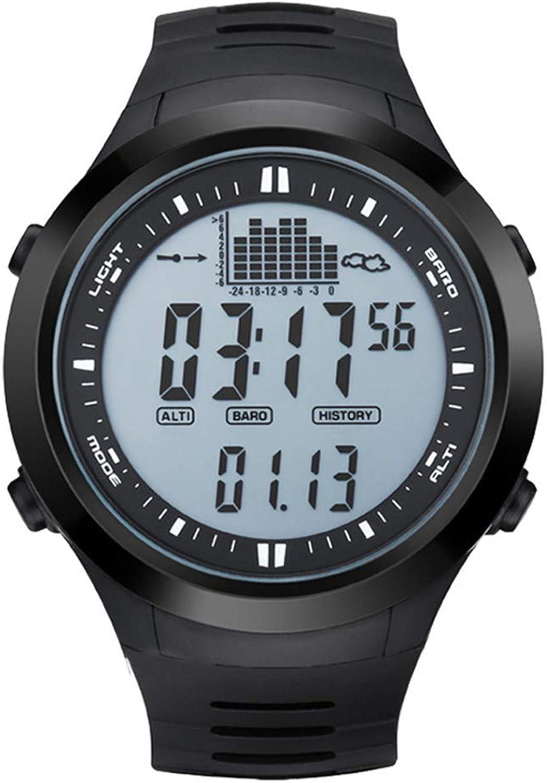RENYAYA Fishing Watch Barometer 3ATM wasserdicht Thermometer Altimeter Military Sports Digital Wristwatches,710Weiß