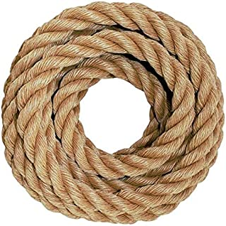 SGT KNOTS ProManila Rope (1/2 inch) UnManila Tan Twisted 3 Strand Polypropylene Cord - Moisture, UV, and Chemical Resistant - Marine, DIY Projects, Crafts, Commercial, Indoor/Outdoor (200 ft)