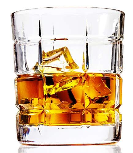 LANFULA Bicchieri Whisky, Bicchiere Cocktail Cristallo, 300 ml, Set di 4 Pezzi, Regalo Perfetto per Gli Amanti Del Whisky