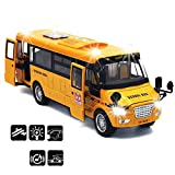 【Exquisite Design & Well-made.】This large school bus toy with every detailed design, its attractive yellow color, smooth edge, elegant lines and realistic workmanship will keep your little kids playing for a long time. 【Superior Diecast School Bus To...