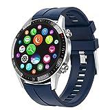 Hanone Reloj Inteligente Q88 con Alarma de música y Reloj Inteligente Masculino de Gran Capacidad a Prueba de Polvo Azul
