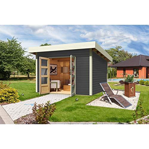 Röhrs Edition - Karibu Gartenhaus 40 mm Wandstärke...