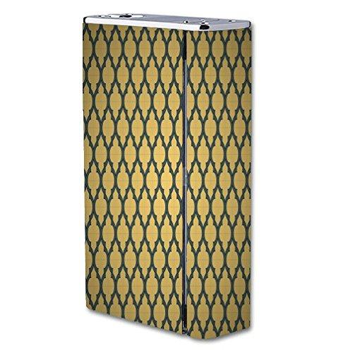 Decal Sticker Skin WRAP Gold & Grey Quatrefoil Pattern Art for Smok X Cube II 160W TC