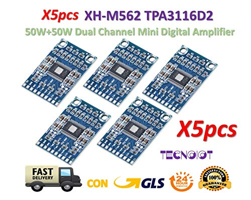 TECNOIOT 5pcs XH-M562 TPA3116D2 Digital Audio Amplifier