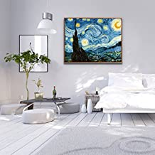 Paintsh Moon and Stars Van Gogh Simple Modern Decorative Painting Living Room Wall Painting Sofa Background Wall Bedroom ...