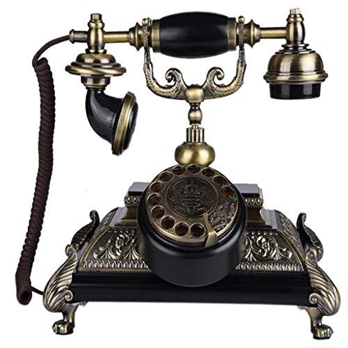 VERDELZ TeléFono Antiguo InaláMbrico Giratorio Europeo, TeléFono Fijo para El Hogar TeléFono Retro Dial Giratorio Suministros De DecoracióN De Oficina Retro