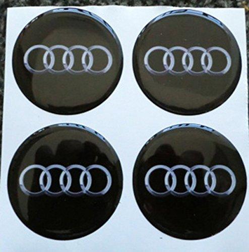60mm schwarz Tuning Effekt 3d 3m geharzt Radkappen Nieten Caps Aufkleber Stickers für Alufelgen X 4Stück