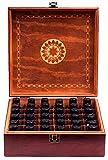 Beautiful Essential Oil Storage Box Organizer - Holds 36 Bottles 5-10-15-30ML & 1oz Or 72 Roller Bottles - Free Roller Bottle Opener & 192 EO Labels - Wooden Oil Case Holder