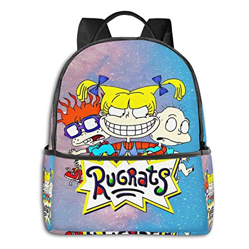 XCNGG The Rugrats Tommy Chuckie and Angelica Travel Laptop Backpack Casual Daypack Computer Bag Gift for Men Women