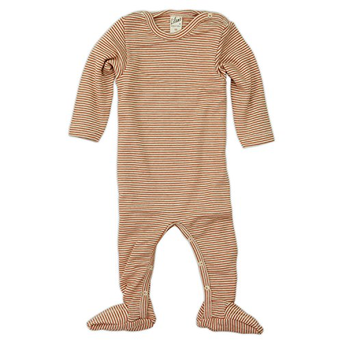Lilano Schlafanzug - Overall, Größe 50, Farbe Terra-Natur von Wollbody® - 70% Schurwolle kbT, 30% Seide - Vertrieb nur durch Wollbody®